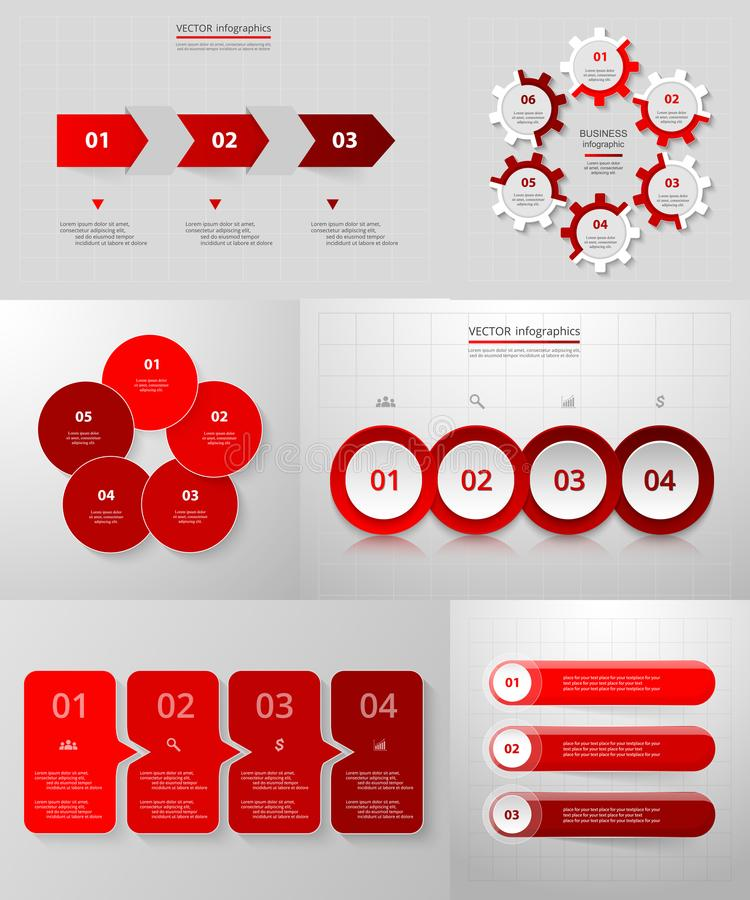 Vector circle infographic set. stock illustration