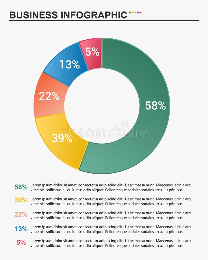 Business infographic template. vector illustration