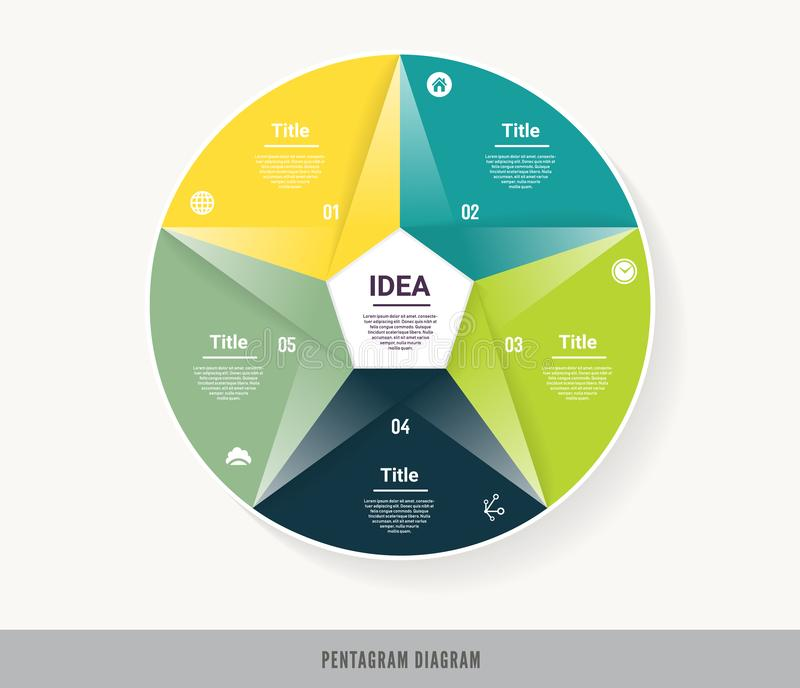Vector circle infographic. Template for diagram, graph, presentation and chart. Business concept with five options, parts, steps o. R processes. Abstract vector illustration