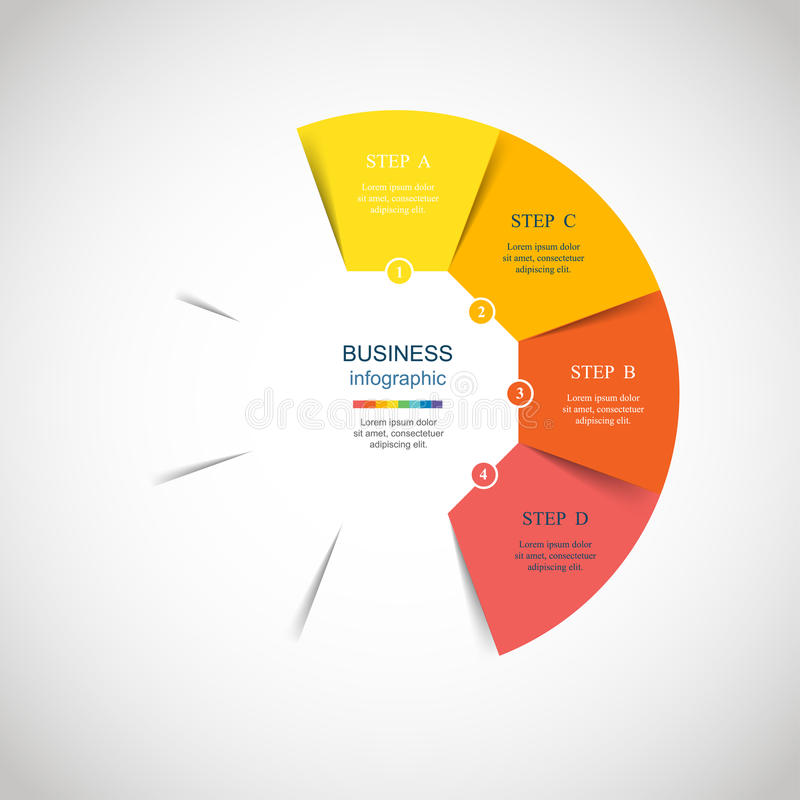 Vector circle infographic stock illustration