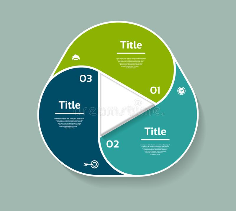 Vector circle infographic. Template for diagram, graph, presentation and chart. Business concept with three options, parts, steps. Or processes. Abstract vector illustration