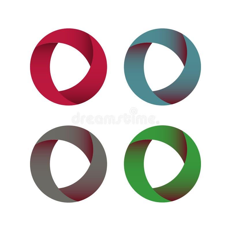 Vector Circle Logo Design Template . Infinite Loop Shape Cycle Creative Symbols . - Vector royalty free illustration