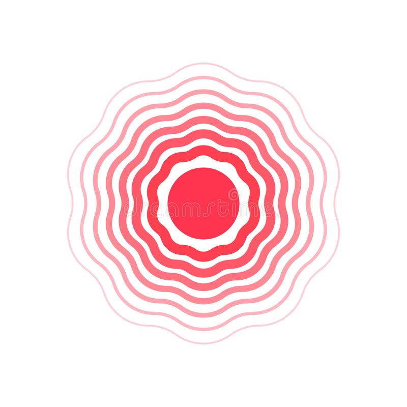 Vector Circles Symbol Of Pain Flat Illustration Stock