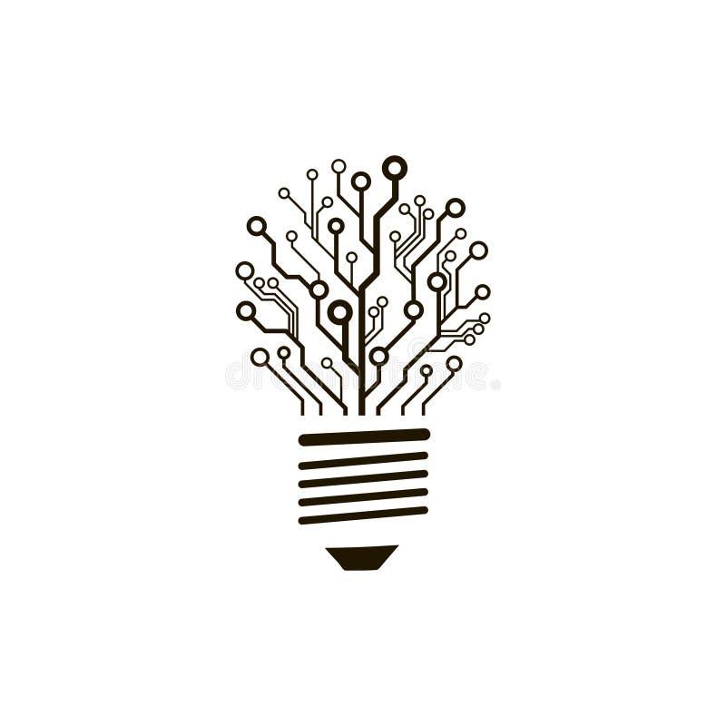 vector circuit board bulb  stock vector  illustration of light