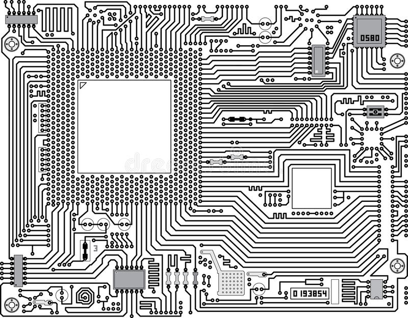 Download Vector Circuit Board - Industrial Background Stock Images - Image: 17921004