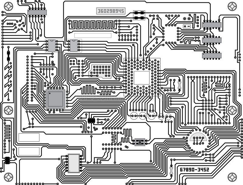 Vector circuitry - industrial high-tech background vector illustration