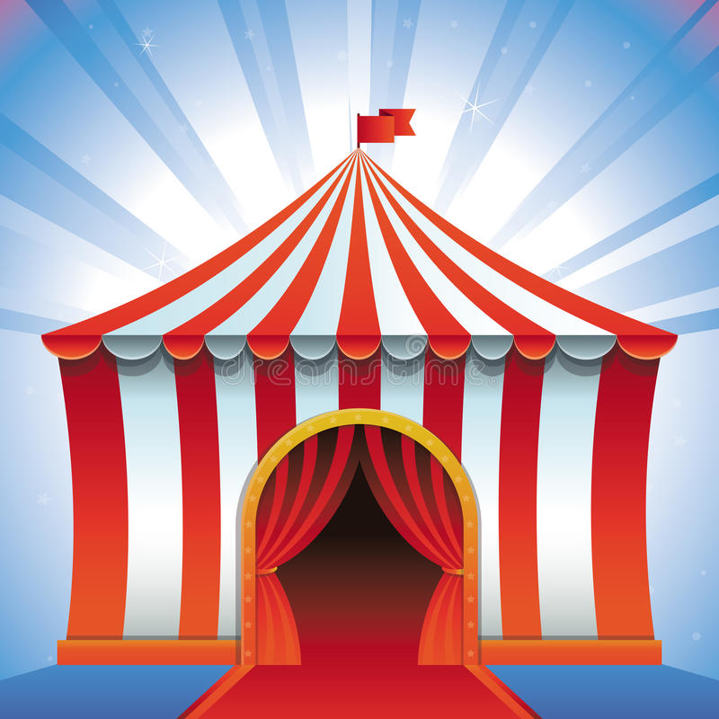 Download Vector Circus Tent - Bright Icon Stock Vector - Image: 30631979