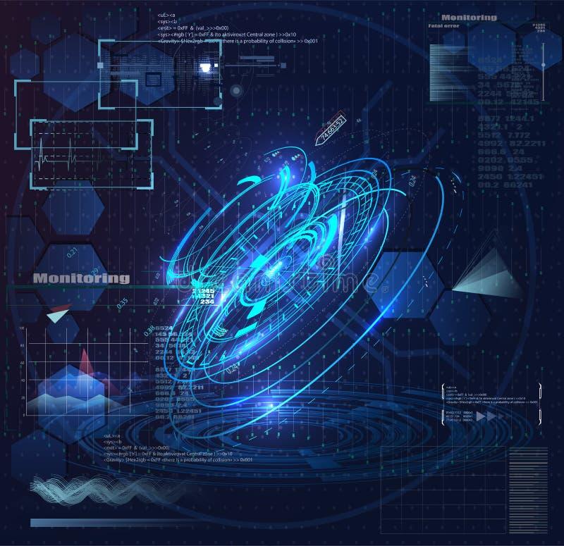 Vector Cirkelelement voor HUD Sci Fi Interfaces royalty-vrije illustratie