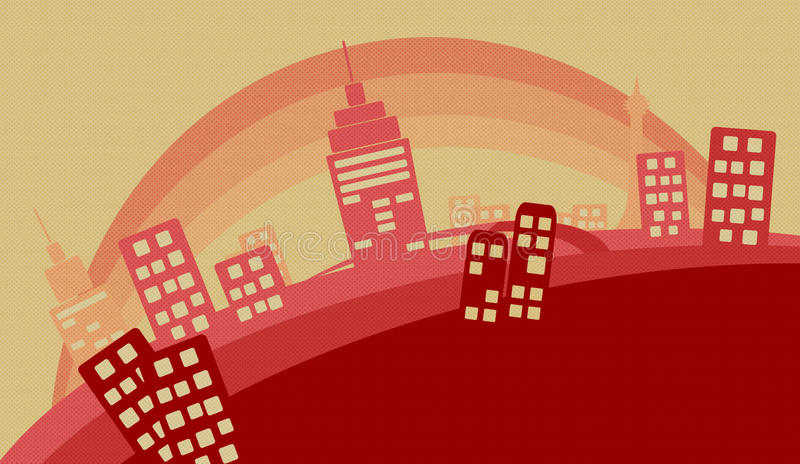 Vector City illustration. Vector illustration of a city, suitable for cropping to become a top banner. File available in Illustrator CS AI as well. All city vector illustration