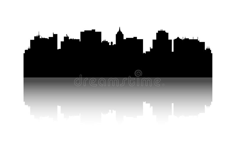 vector city silhouette cityscape background illustration of rh dreamstime com cityscape vector image cityscape vector free