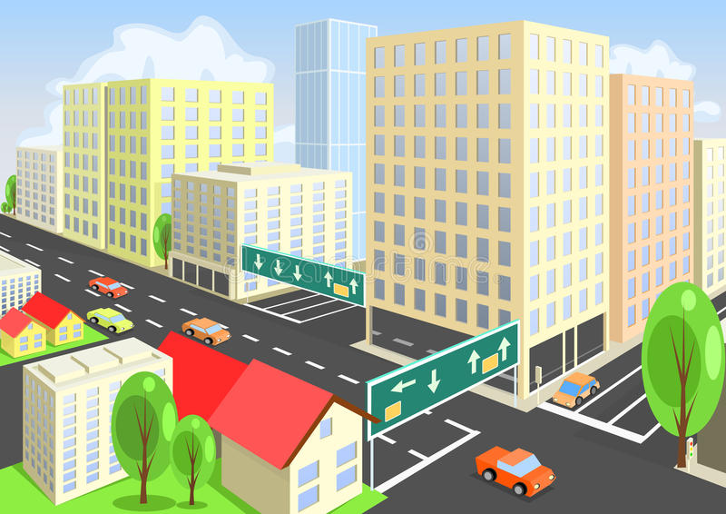 Download Vector City View From Above. Stock Vector - Image: 26793253