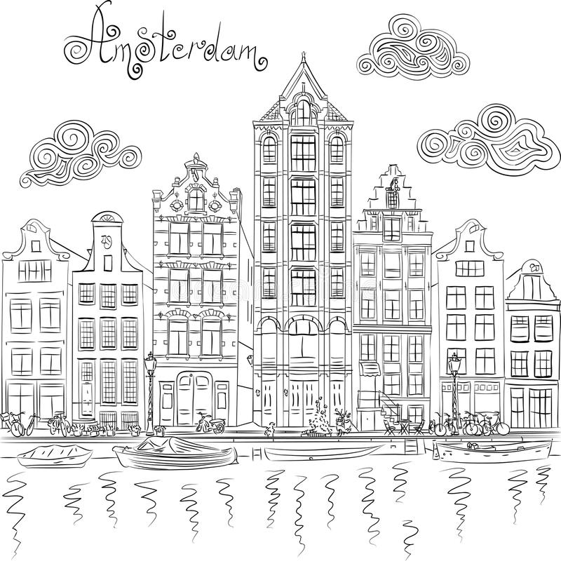 Kleurplaat Naam Geert Verjaardag Hollandse Huisjes Tekening Kleurplaat Stadsvernieuwing Op