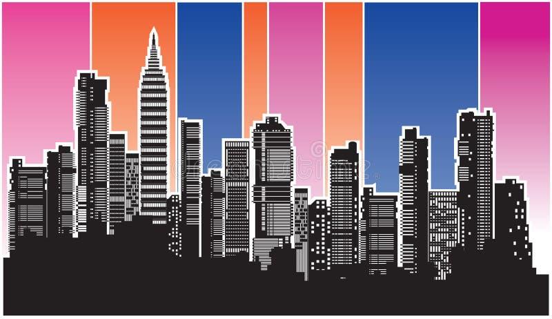 Vector city4 stock illustration