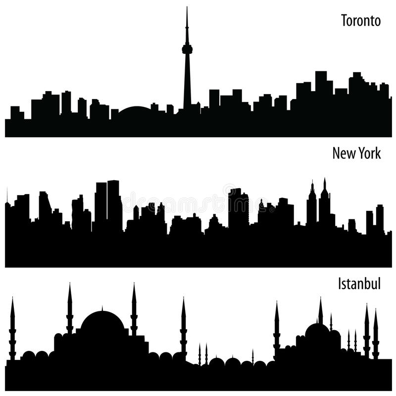 Vector Cityscape Collection vector illustration