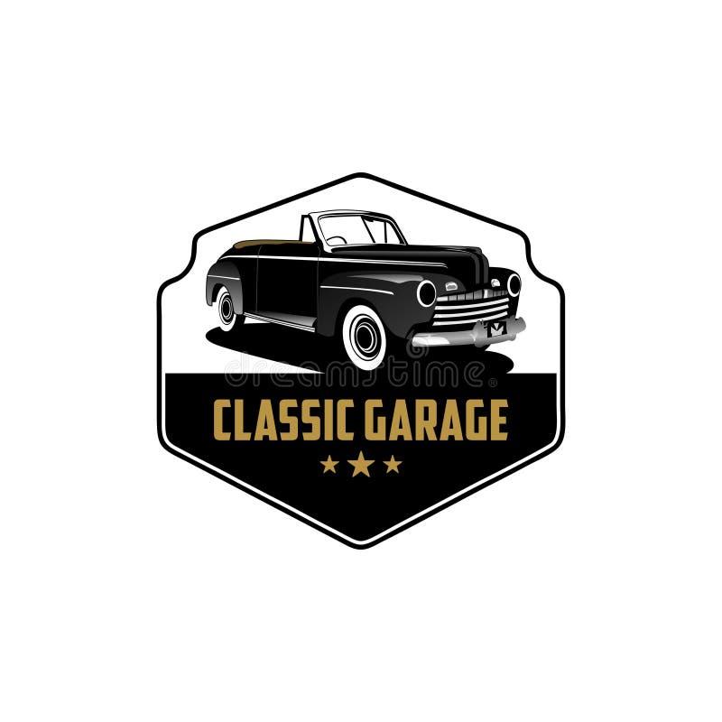 Vector clásico exclusivo del logotipo del garaje 1 del coche libre illustration