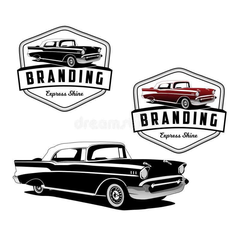 Vector clásico expreso del logotipo del coche ilustración del vector