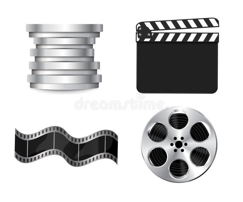 Download Vector  clapperboard stock illustration. Illustration of clip - 26370611