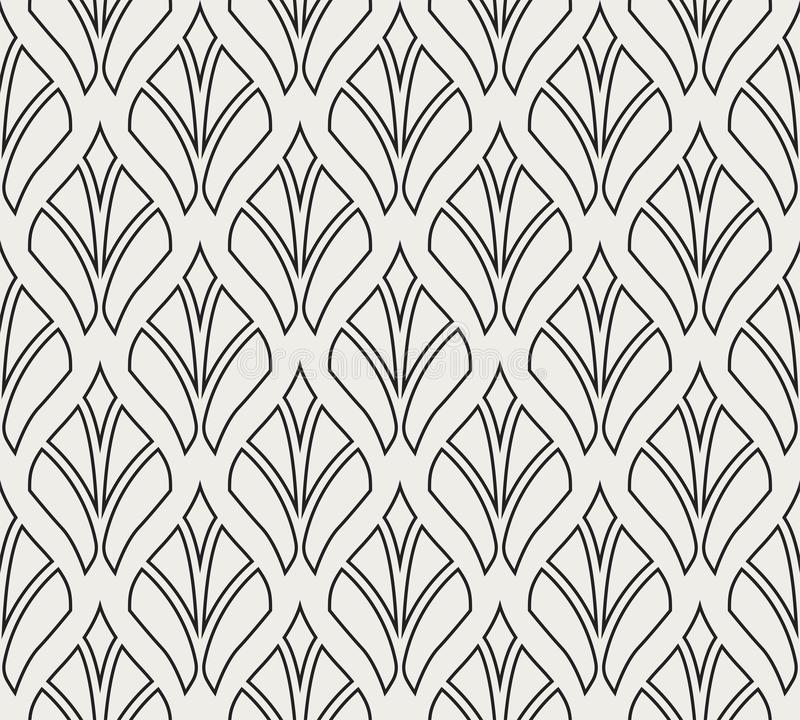 Classic Art Deco Seamless Pattern. Geometric Stylish Texture. Abstract Retro Vector Texture. Vector Classic Floral art nouveau Seamless pattern. Stylish stock illustration
