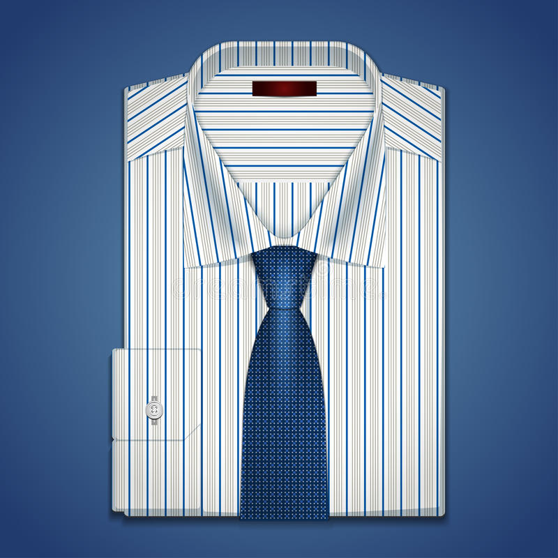 Vector classic shirt and tie vector illustration