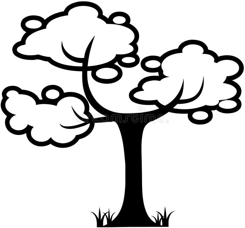 Vector Clipart de la historieta de la hoja de la naturaleza del árbol ilustración del vector