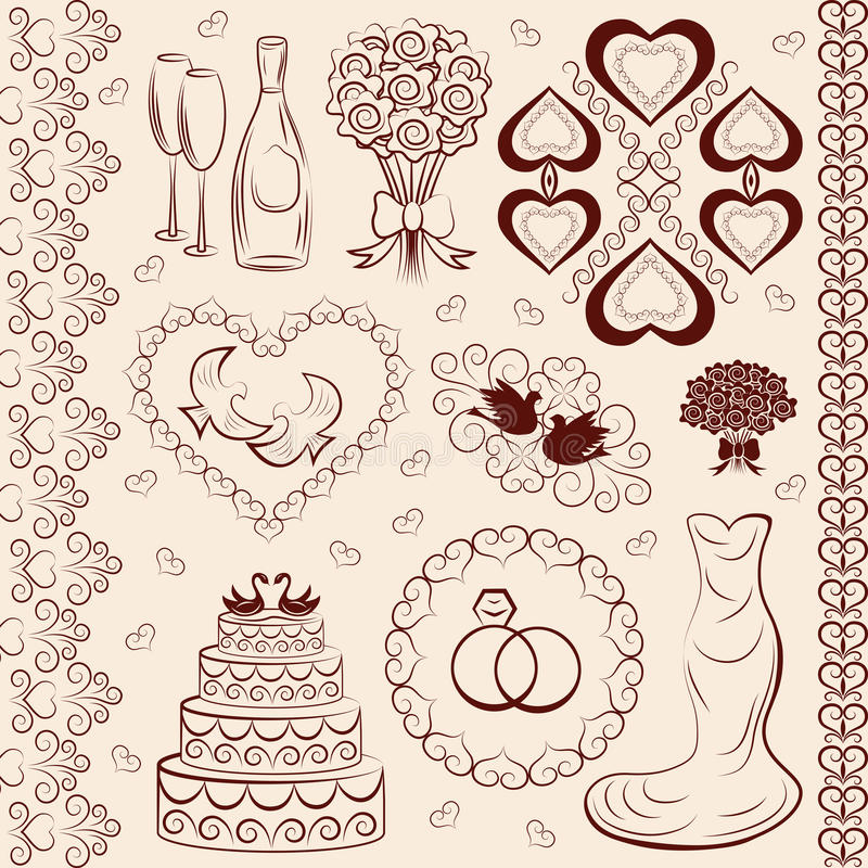 wedding decoration clipart choice image   wedding dress