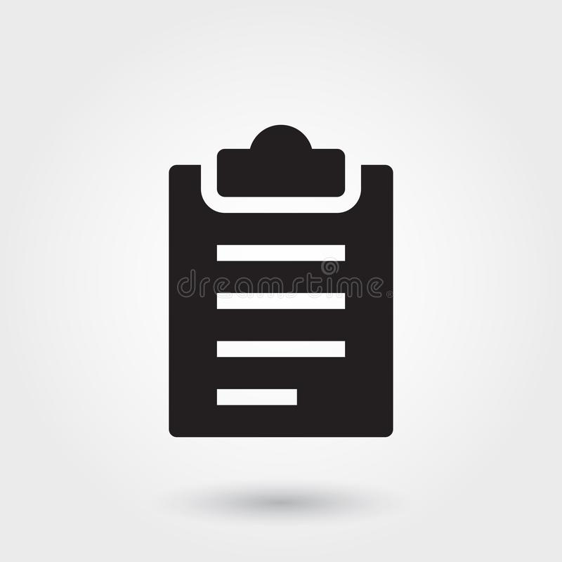 Vector, Clipboard Glyph Icon for any purposes perfect for website, mobile app stock illustration
