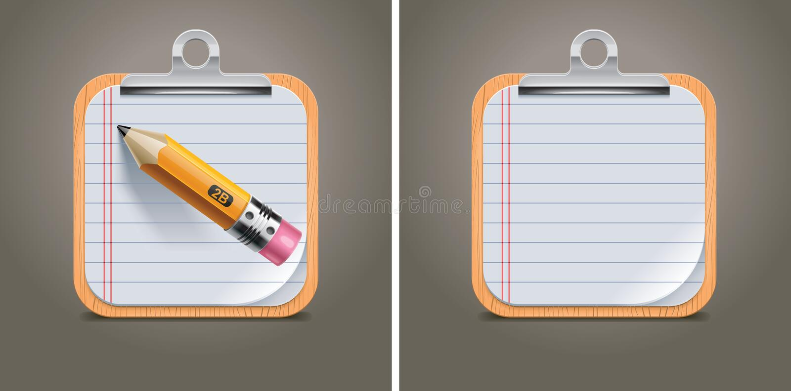 Vector clipboard square icon royalty free illustration