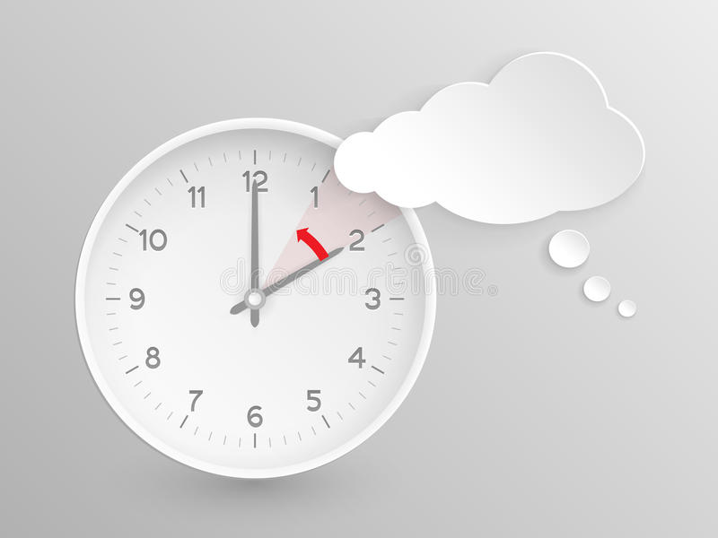 Vector clock, do not forget to fall back royalty free illustration