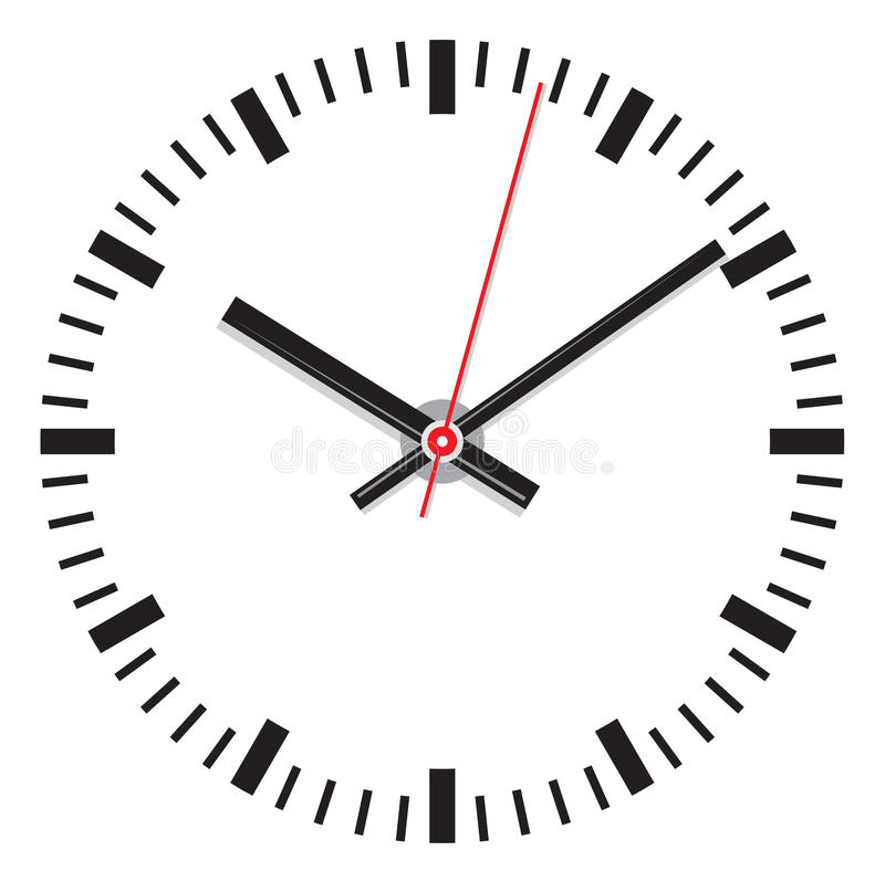 Vector clock face - easy change time stock illustration