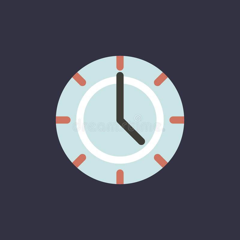 Vector of clock time icon vector illustration