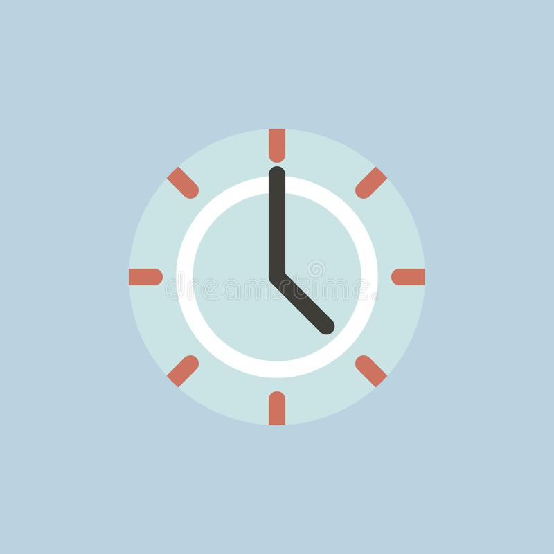 Vector of clock time icon stock illustration