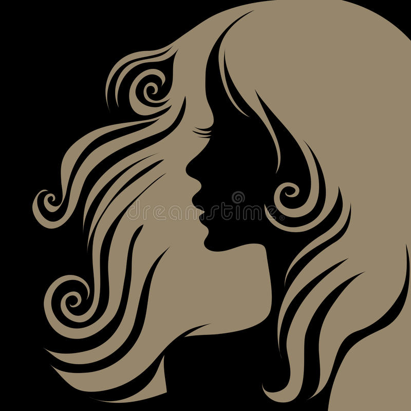 Download Vector Closeup Portrait Of Woman With Long Hai Stock Vector - Image: 11893920