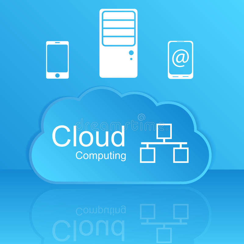 Download Vector Cloud Computing Concept. Modern Design Temp Royalty Free Stock Photo - Image: 37359385