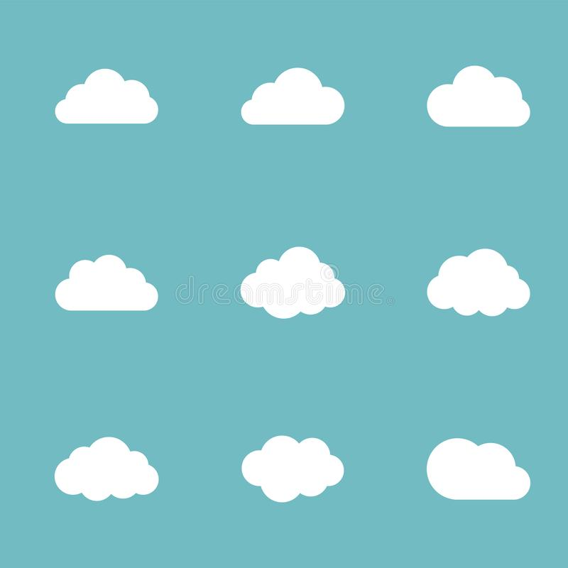 Vector cloud set stock illustration