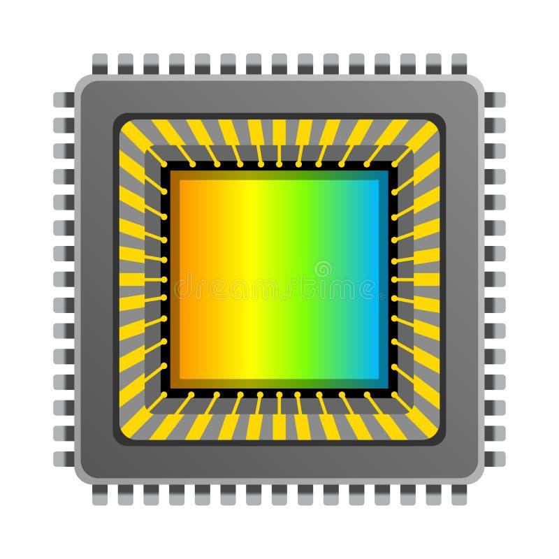 Vector cmos ccd image sensor. Digital camera cmos ccd image sensor isolated on white background stock illustration