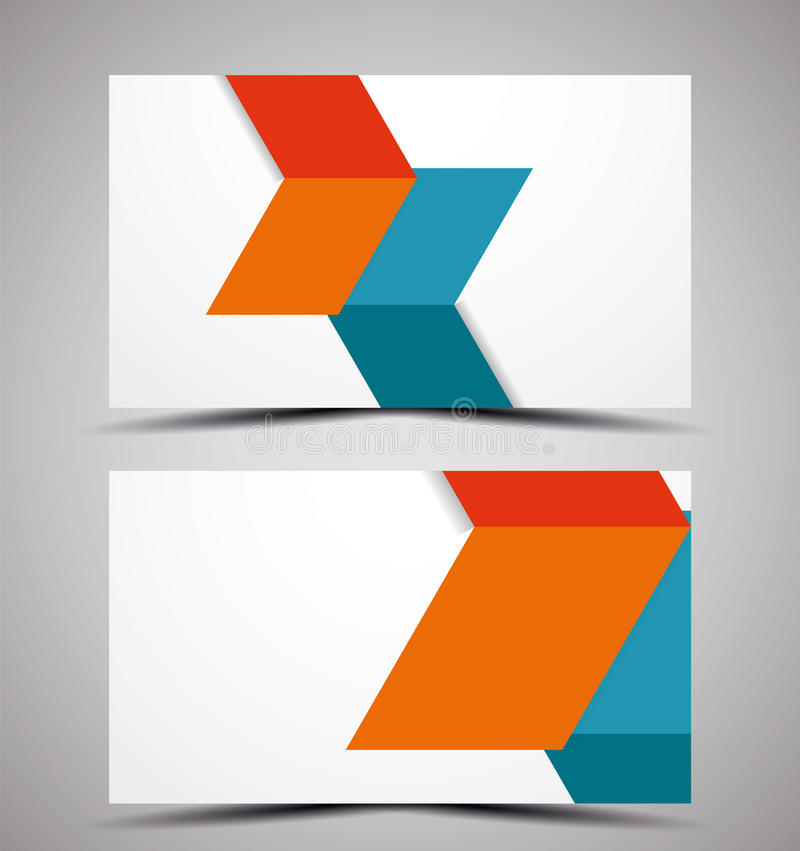 Vector CMYK Business Card Design Template Stock Vector ...