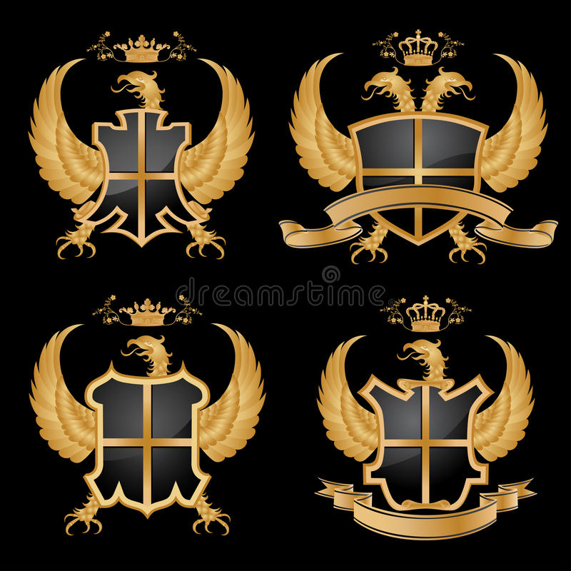 Vector coat of arms. royalty free illustration