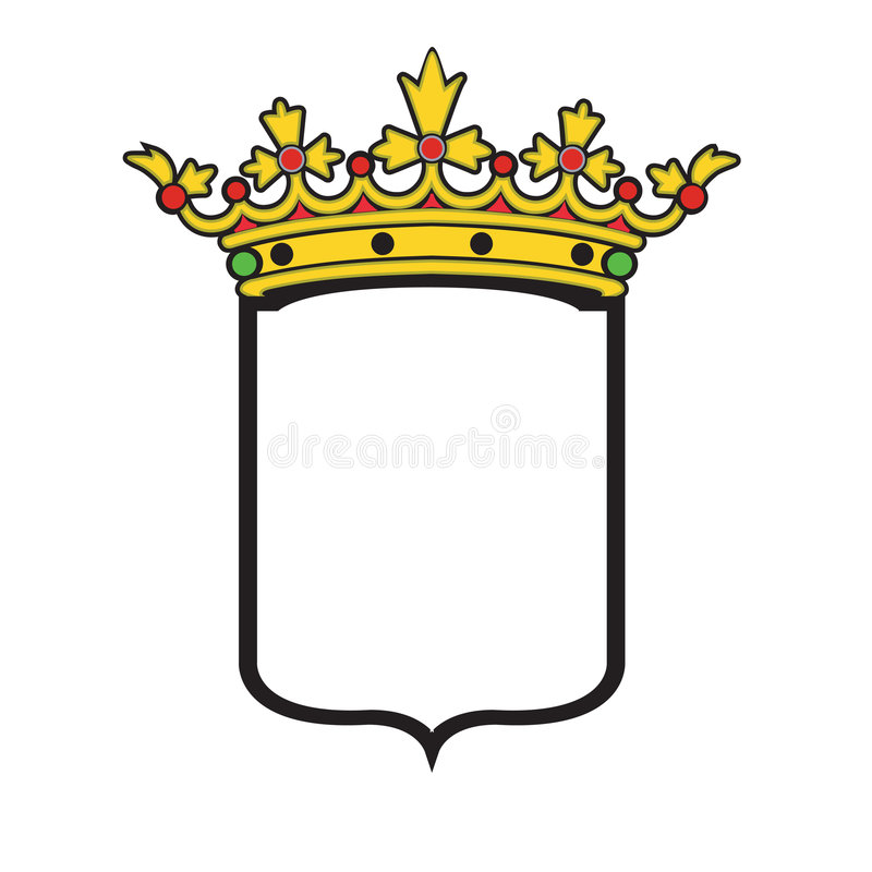 Vector coat of arms typical shape