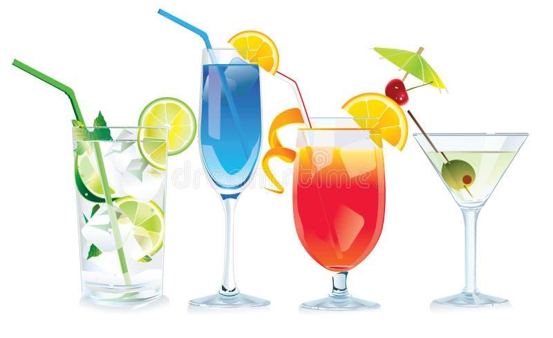 Vector cocktails stock illustratie