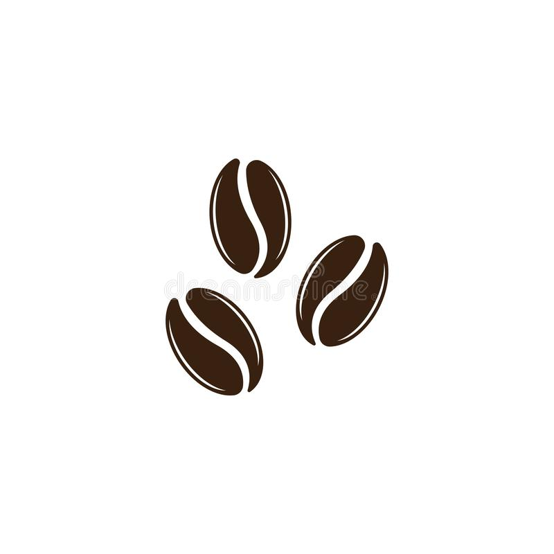 Vector coffee beans template vector icon illustration. Design, logo, symbol, element, shop, nature, background, isolated, food, natural, plant, white, organic vector illustration