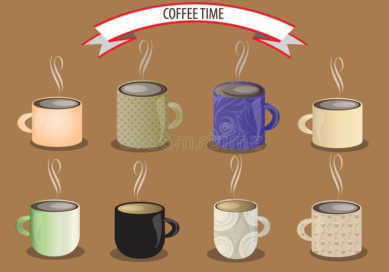 Download Vector coffee cup set stock illustration. Image of drawing - 40363706