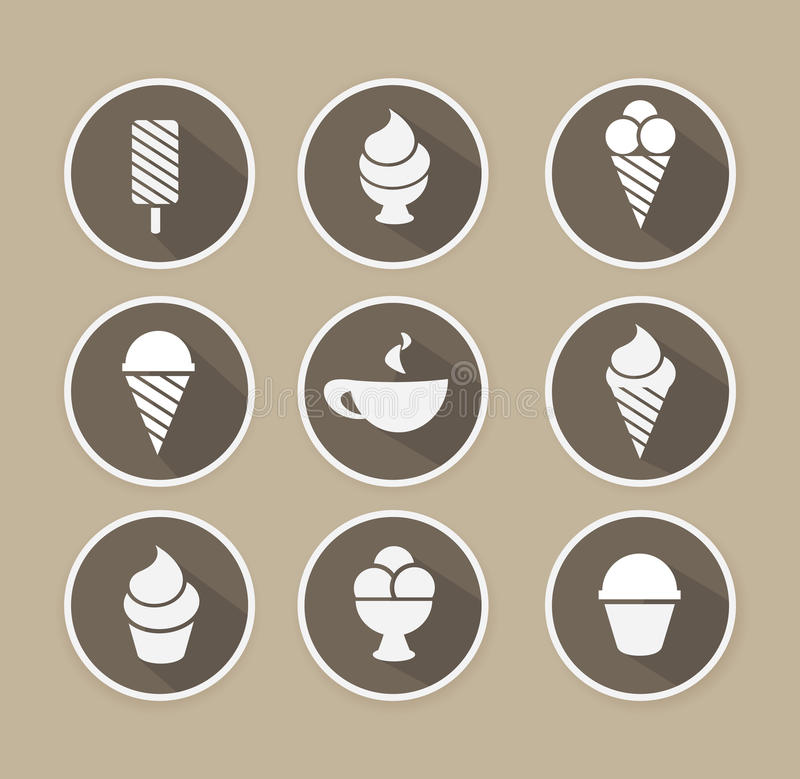 Vector coffee and desserts icon. Beverages, food. Menu vector illustration