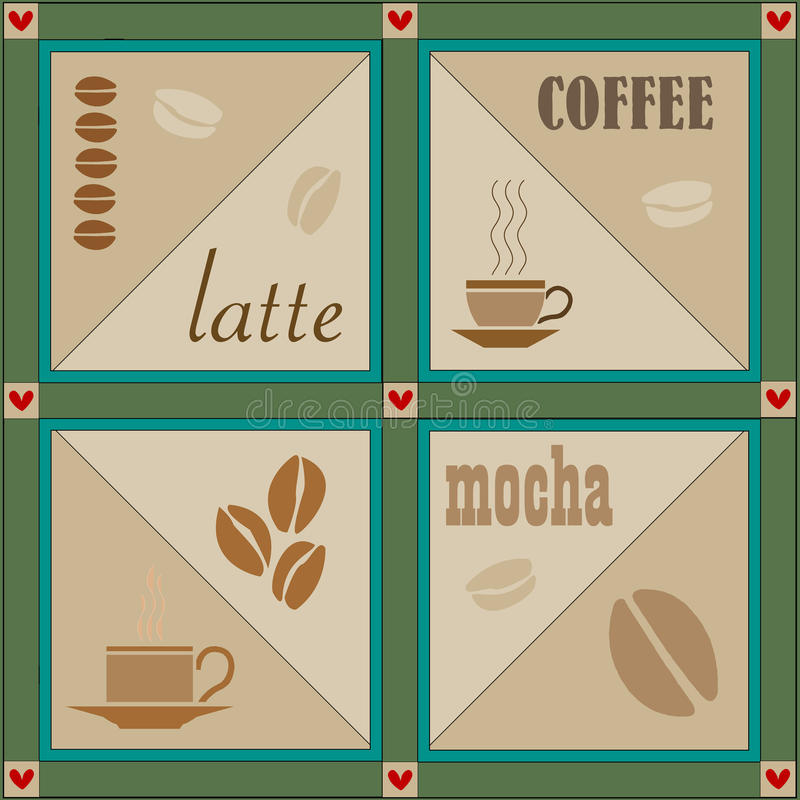 Vector coffee illustration royalty free illustration