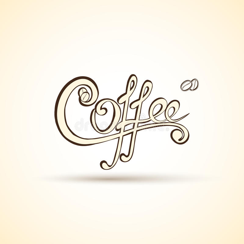 Vector coffee shop labels with calligraphy stock vector Calligraphy store