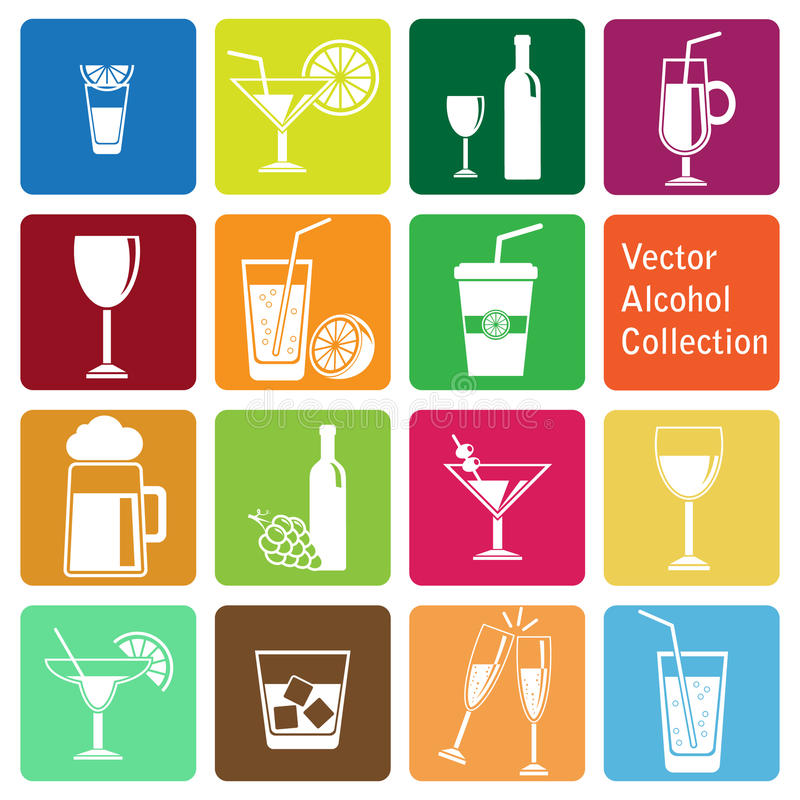 Free Vector Collection: Alcohol Icons Royalty Free Stock Photo - 33497465