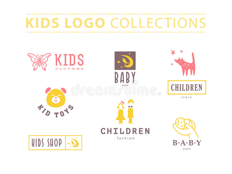 Vector collection of baby logo. stock illustration