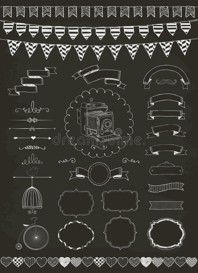 Vector Collection of Banners, Ribbons and Frames royalty free illustration