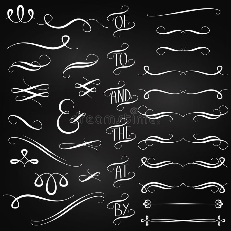 Vector Collection of Chalkboard Style Decorations vector illustration