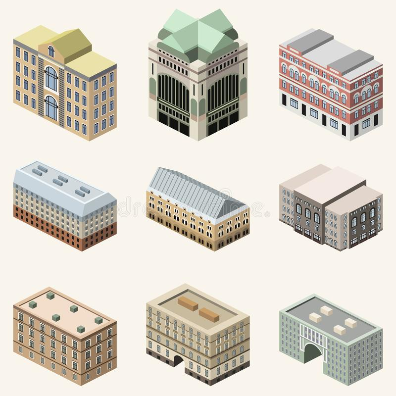 Vector 3d isometric icon of Taj Mahal mausoleum with colorful flat style shadow and backgroundvector collection of 3d isometric b. Vector collection of 3d vector illustration