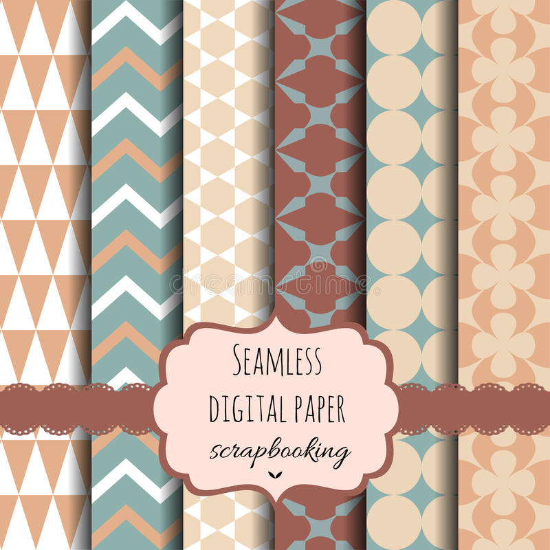 Vector Collection of Digital Papers. Vector Collection of Bright and Colorful Backgrounds or Digital Papers vector illustration